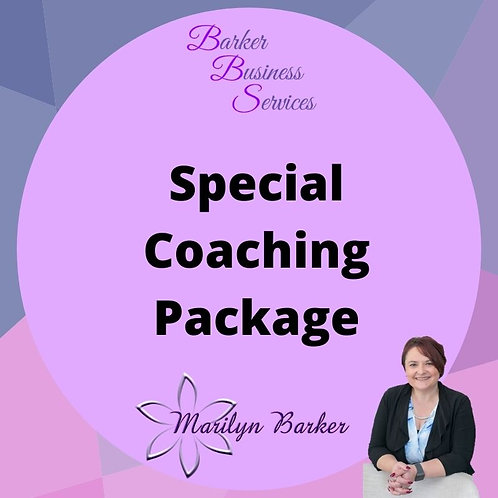 Spcial Offer Coaching Package