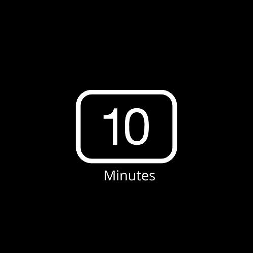 Zoom Timer Background 10 min  Black