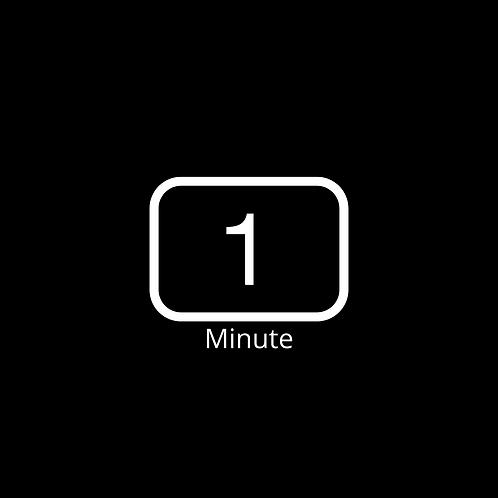 Zoom Timer Background 1 min  Black
