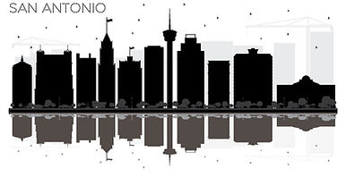 san-antonio-texas-city-skyline-black-and