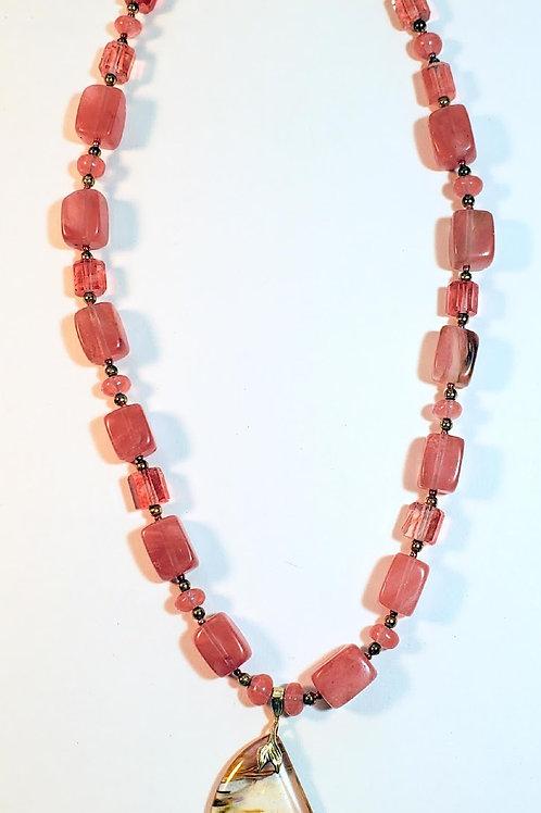 "20"" Cherry Quartz Necklace"