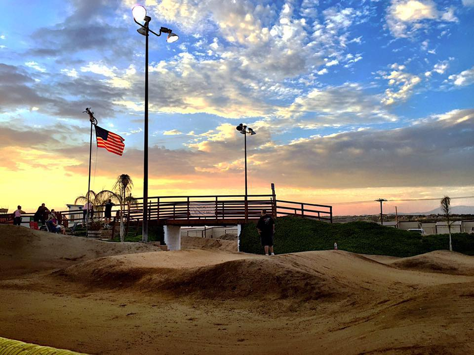 thetrack with flag