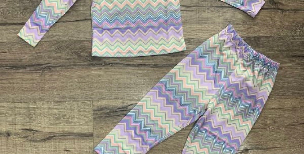 Children's lilac and lime set
