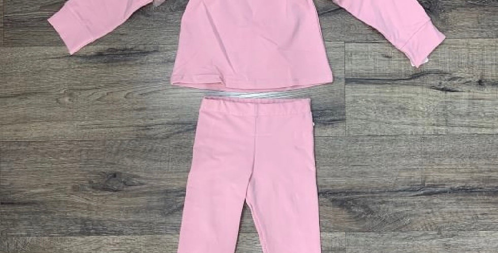 Kids Pink frill lounge set