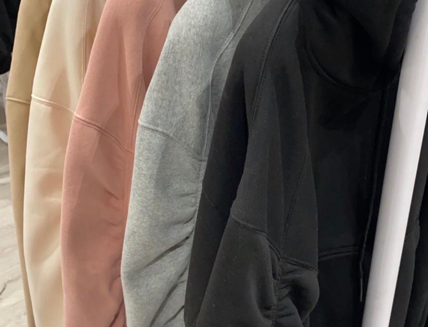 Ruched hoodies