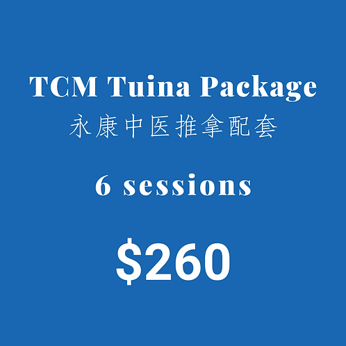 6 Sessions of TCM TuiNa Package
