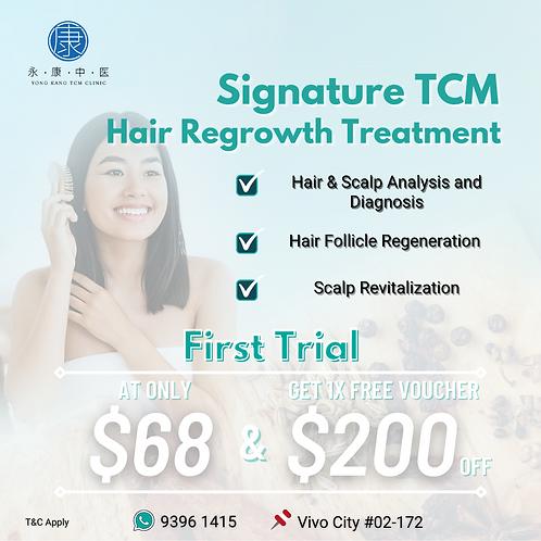 TRIAL (Yong Kang TCM Hair Regrowth Treatment) at Vivo City #02-172
