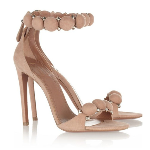 Suede Studded Ankle Strap Heels | Sweet Chickz Boutique