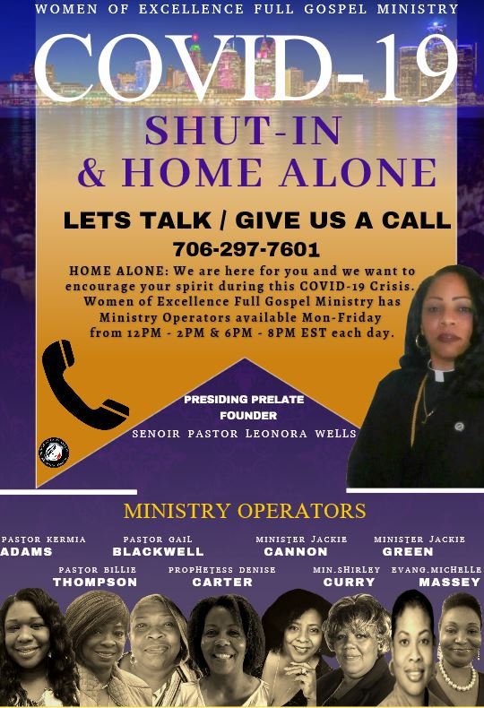 WOE Home Alone Phone Ministry Flyer.JPG