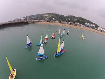 dinghy sailing at Dover sea sports stages 3 and 4