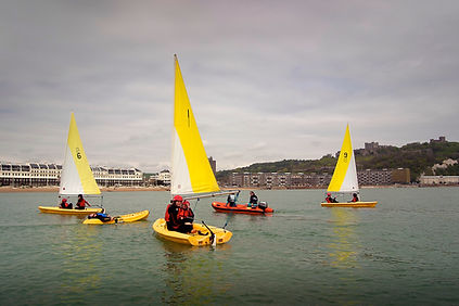 teach dinghy sailing at Dover Sea Sports