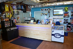 shop and reception at Dover Sea Sports Centre