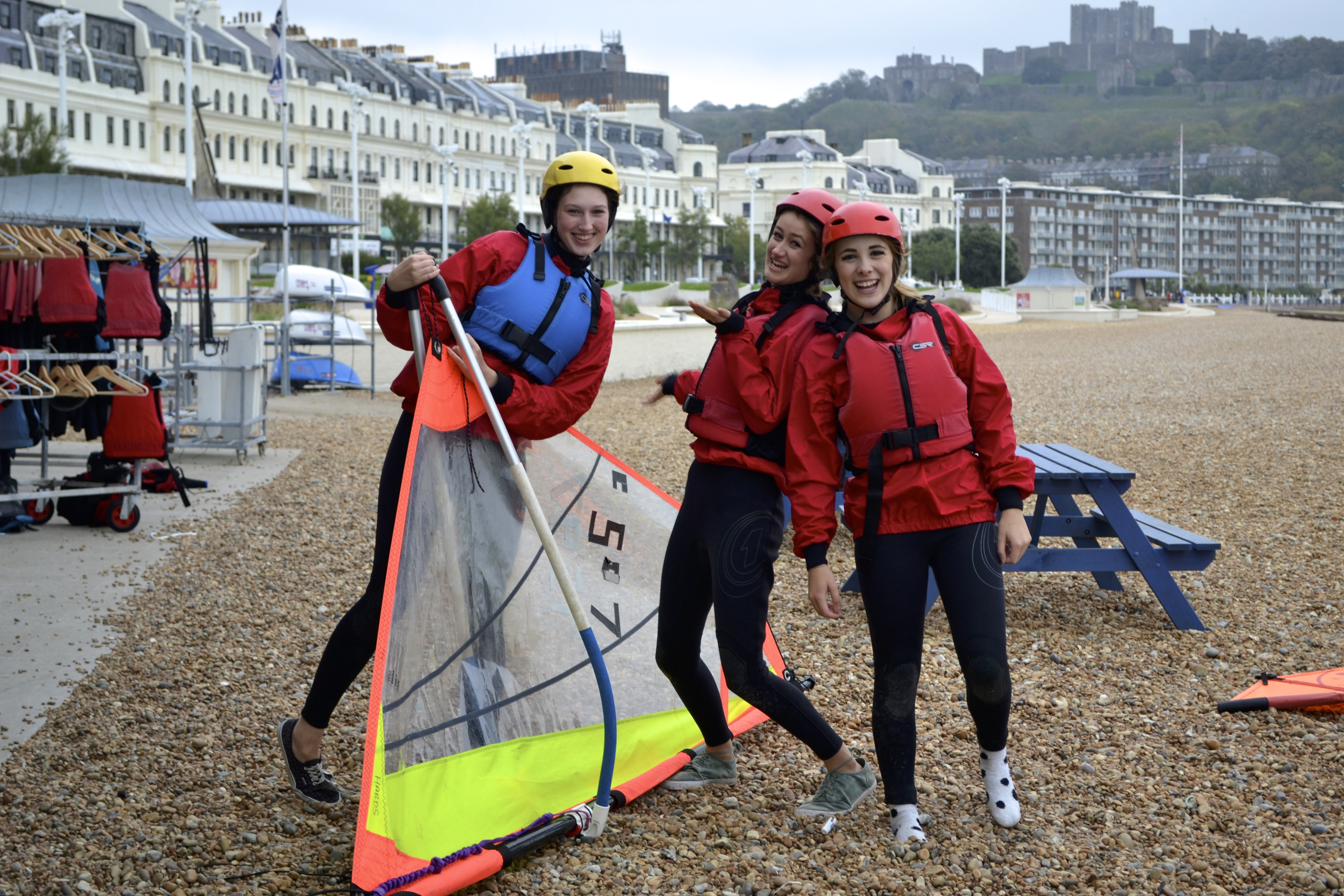 Youth windsurfing at Dover sea sport