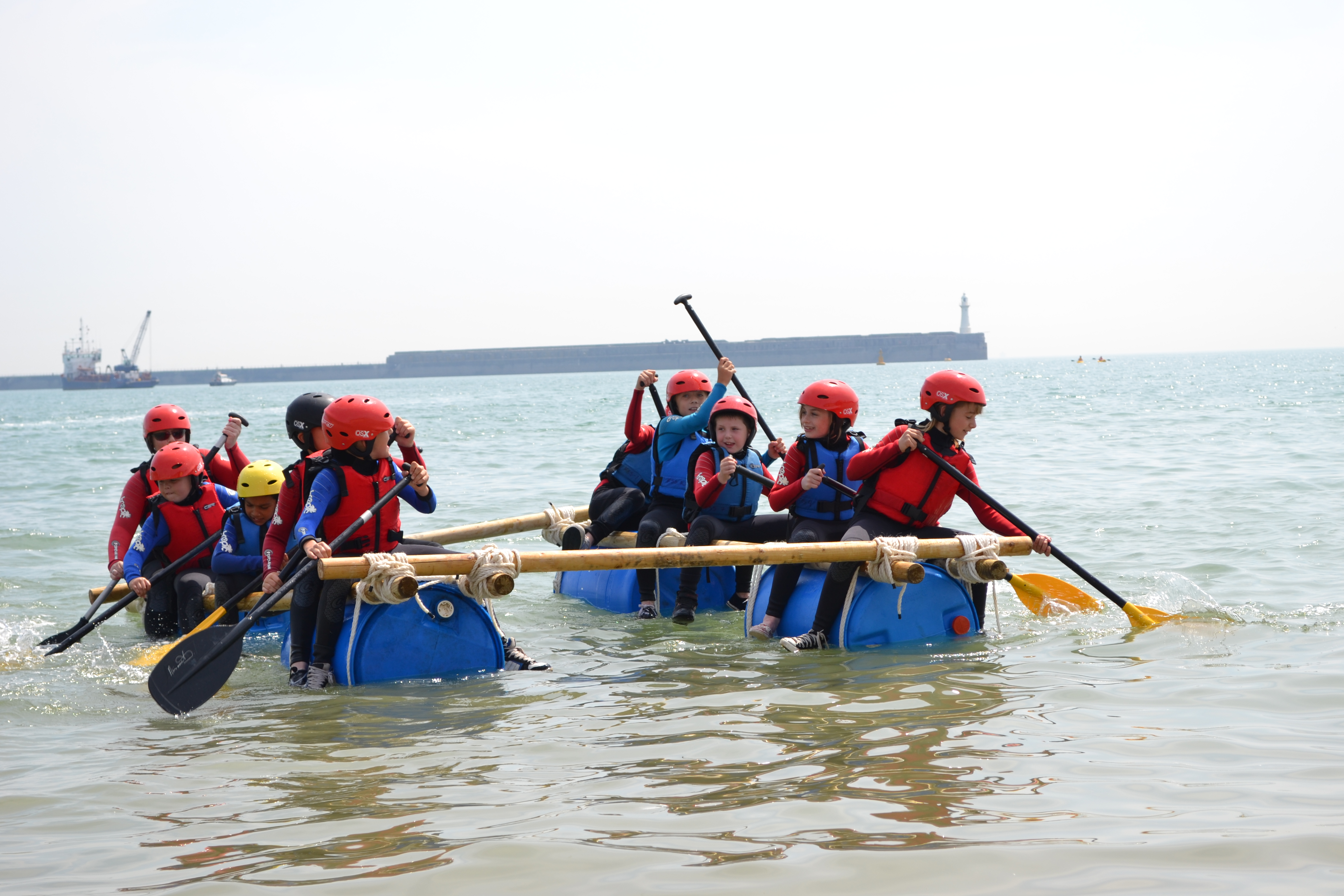 Raft building and racing