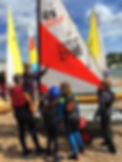 Dover sea sports dinghy sailing stage 1 and 2