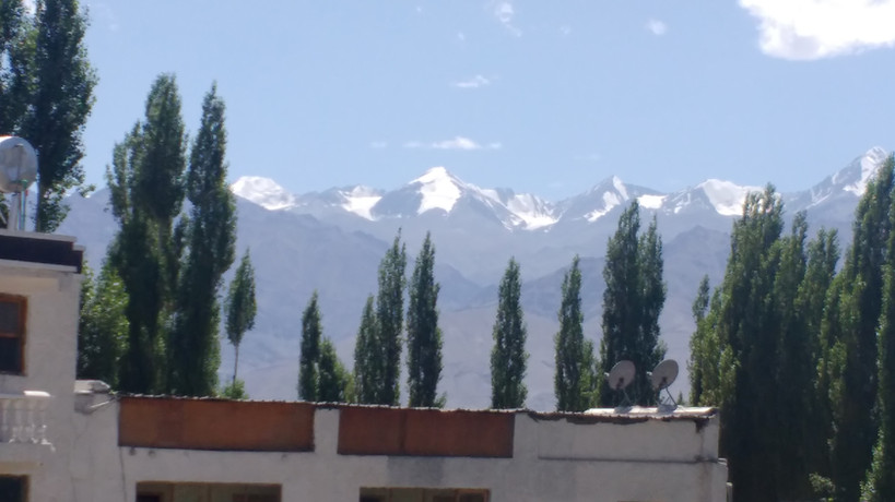 View of mountains from Leh