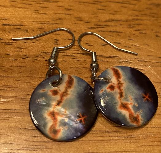 Compass Rose Okinawa Earrings