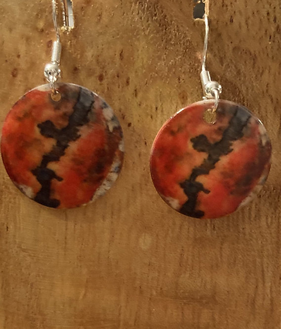Okinawa on Natural shell earrings