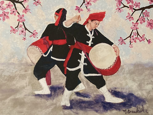 Esia Dancers with Cherry Blossoms