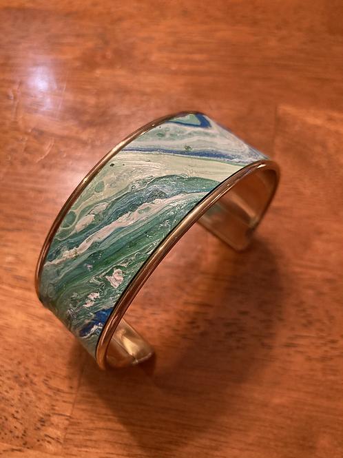 Seaform  acrylic pour cuff bracelet