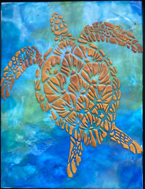 Encaustic Sea Turtle