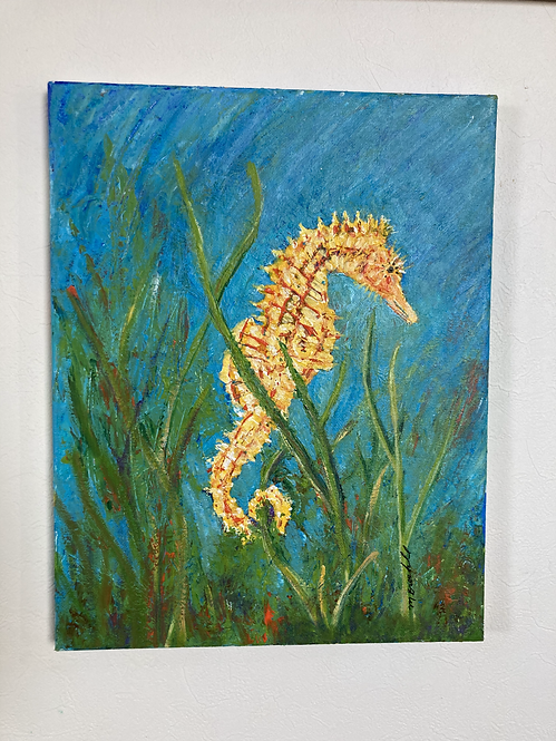 Seahorse in the grass