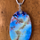 Thumbnail: Natural Shell Pendant With Okinawa and Cherry Blossoms
