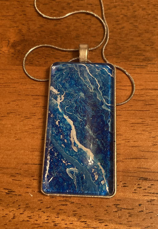 Ocean Movement Rectangular Necklace