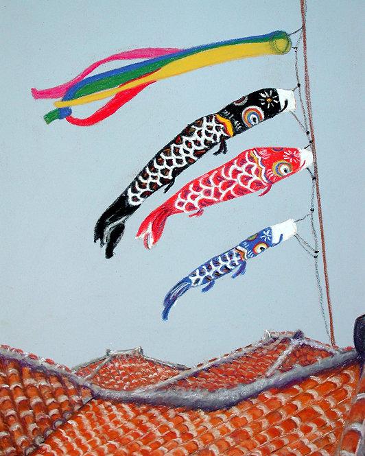 Koinobori Flying