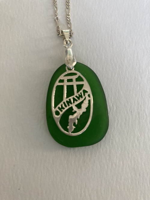 Okinawa on Green Sea Glass