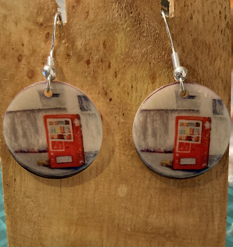 Natural Shell Vending Machine Earrings