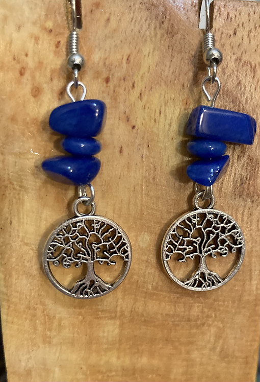 Blue beads with Tree of Life