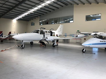 Cessna 402 Twin Engine & Partenavia P68 Twin Engine