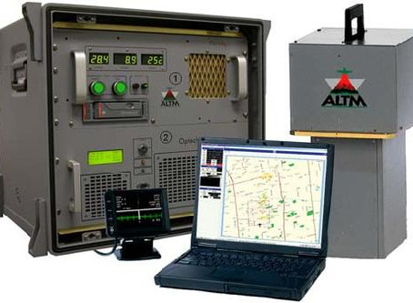 Aerial Surveys Commissions Optech LiDAR System