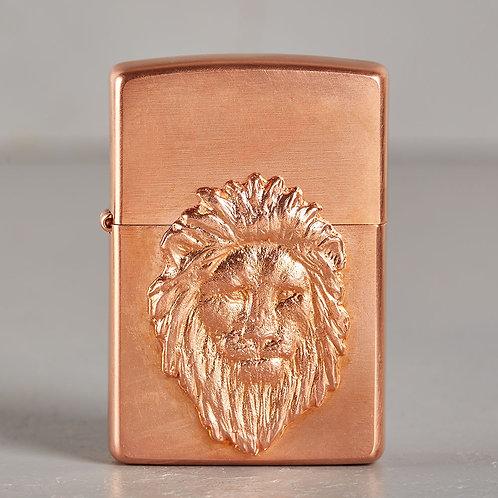 ZIPPO Löwenkönig | hart auf hart | kupfer