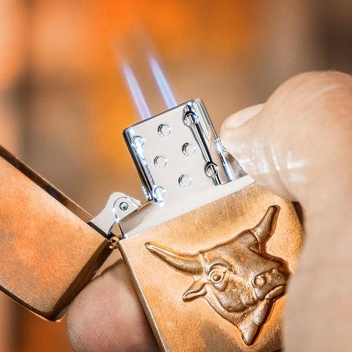 ZIPPO Jet Gas Einsatz | hart auf hart | Original Zippo Double Flame