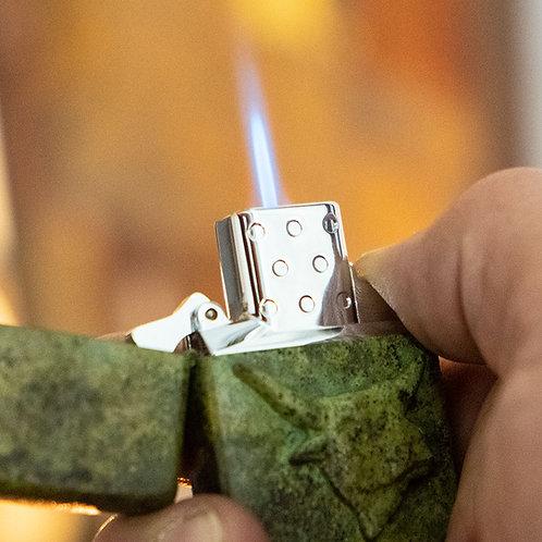 ZIPPO Jet Gas Einsatz   hart auf hart   Original Zippo Single Flame