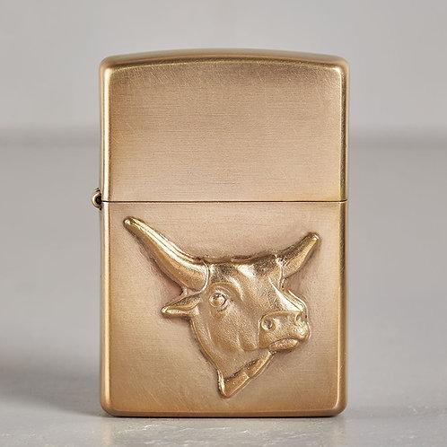 ZIPPO Texas Longhorn | hart auf hart | bronze