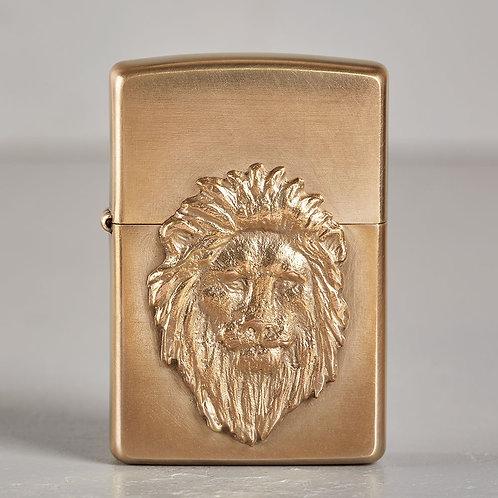ZIPPO Löwenkönig | hart auf hart | bronze