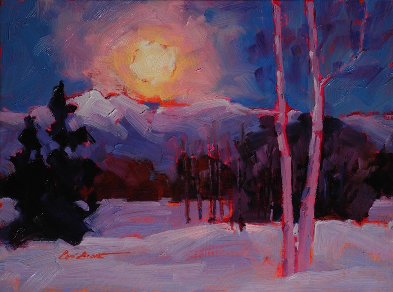 Sangre Moonrise  6 x 8