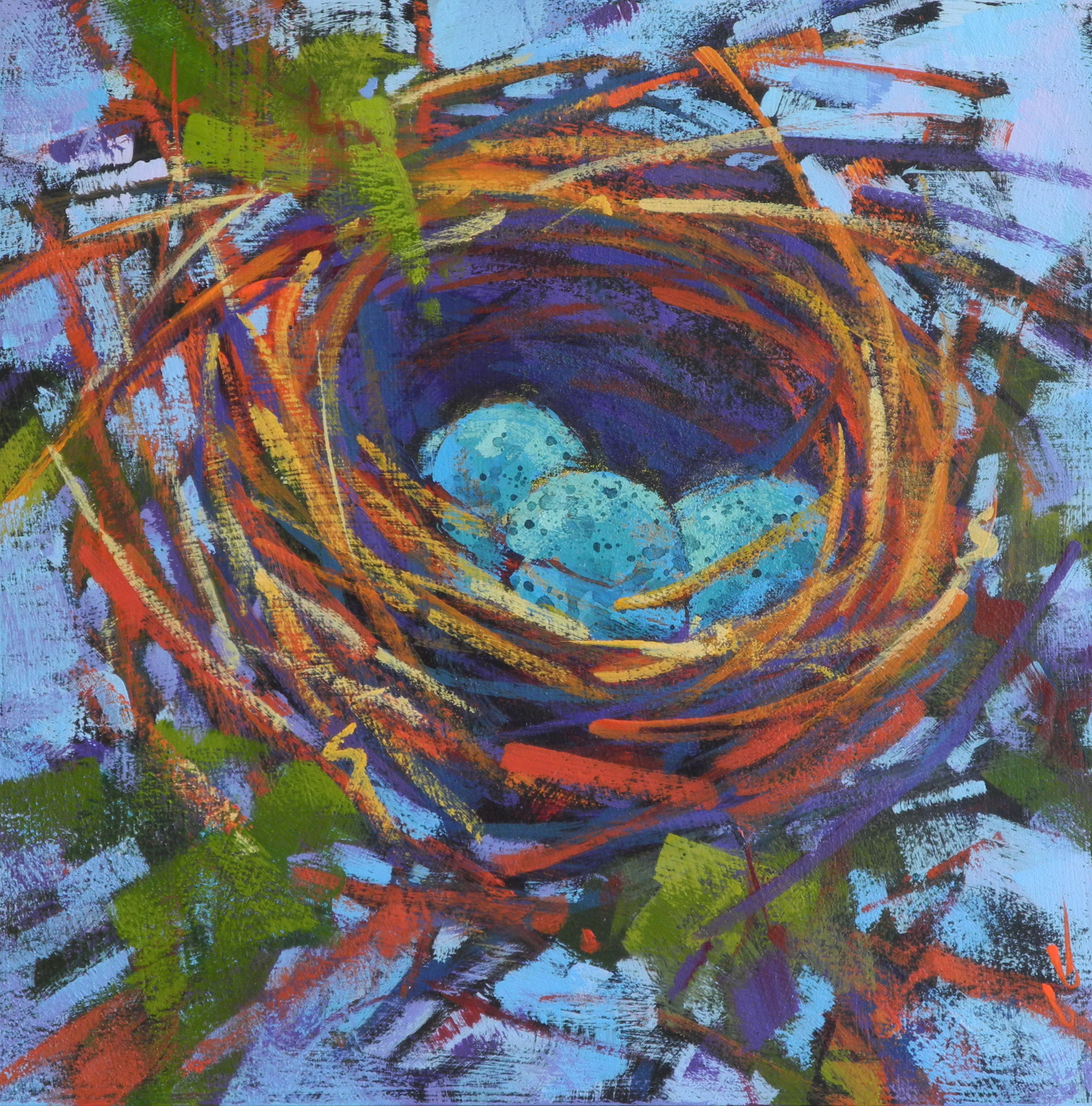 Nest in Blue on Blue