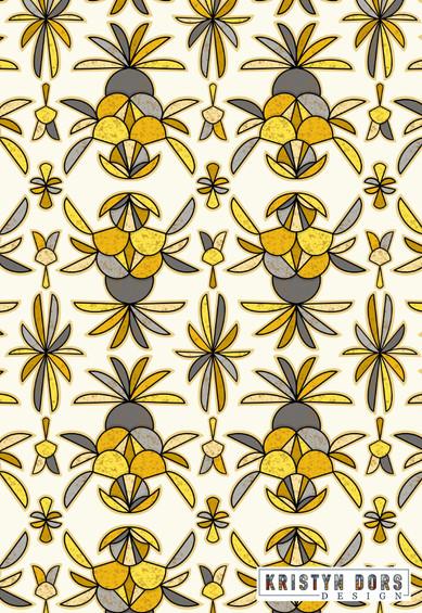 Kristyn Dors Pineapple Abstract