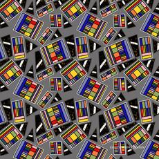 Geometric Rainbow Box on Gray