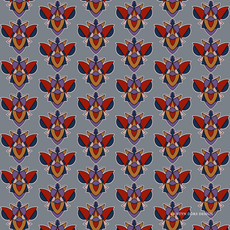 Bizarro Beetle in Purple, Red and Gray