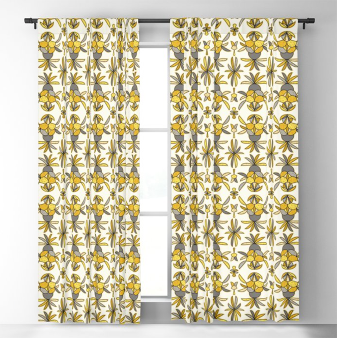 Pineapple Abstract Curtains