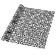 Kristyn Dors Black and White Geo Snowflake Gift Wrap