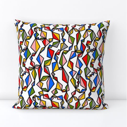 Colorful Kites Large Pillow Cover