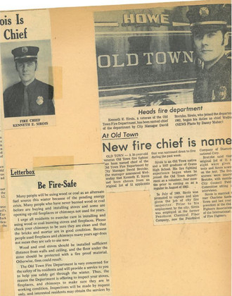 Photo graciously provided by the family of Chief Ken Sirois.