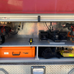 JAWS Ram & Attachments, Sawzalls, Spare JAWS batteries, Winshield Cutter and Winshield Saw