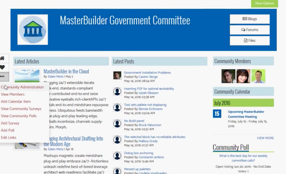 Socious Membership Software Review: Administration Screen